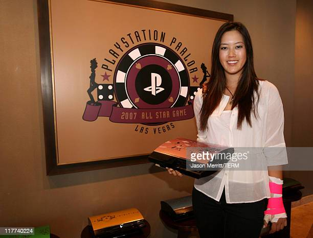 Michelle Wie during Playstation Parlor Hosted by Sony Computer Entertainment America Day 2 at The Palms Sky Villa in Las Vegas Nevada United States