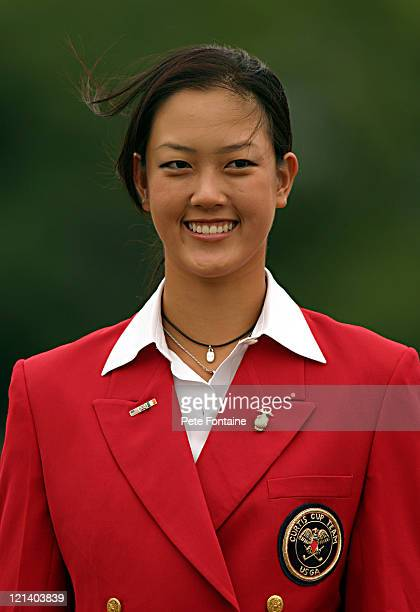 Michelle Wie during the opening ceremony of the Curtis Cup at the Formby Golf Club
