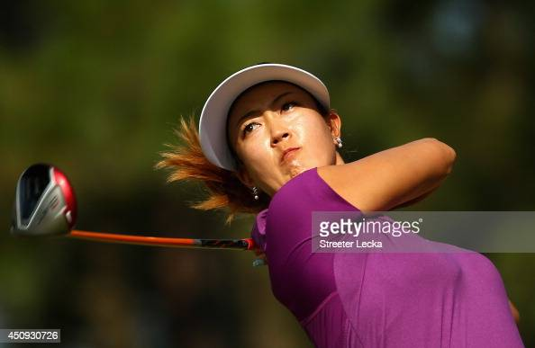 Michelle Wie of the United States hits a tee shot on the 14th hole during the second round of the 69th US Women's Open at Pinehurst Resort Country...