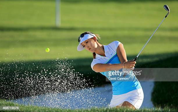 Michelle Wie of the USA during a practice round for the ANA Inspiration on the Dinah Shore Tournament Course at Mission Hills Country Club on March...