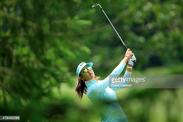 Michelle Wie of the USA during the proam as a preview for the 2015 KPMG Women's PGA Championship on the West Course at Westchester Country Club on...