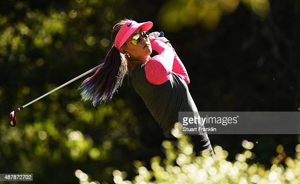 Michelle Wie of USA plays a shot during the third round of the Evian Championship Golf on September 12 2015 in EvianlesBains France