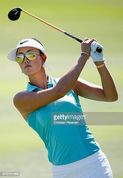 Michelle Wie plays her second shot on the 14th hole during the third round of the LPGA LOTTE Championship Presented By Hershey at Ko Olina Golf Club...