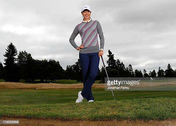 Michelle Wie poses for a portrait during the Safeway Classic at Pumpkin Ridge Golf Club on August 18 2011 in North Plains Oregon