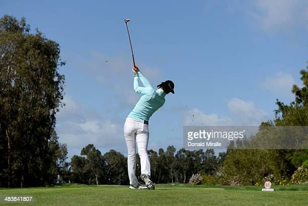 Michelle Wie tees off of the 1st tee during the First Round of the KIA Classic at the Park Hyatt Aviara Resort on March 27 2014 in Carlsbad California