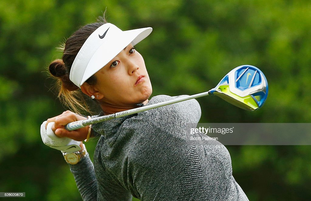 <a gi-track='captionPersonalityLinkClicked' href=/galleries/search?phrase=Michelle+Wie&family=editorial&specificpeople=201982 ng-click='$event.stopPropagation()'>Michelle Wie</a> watches her tee shot on the second hole during the second round of the Volunteers of America Texas Shootout at Las Colinas Country Club on April 29, 2016 in Irving, Texas.