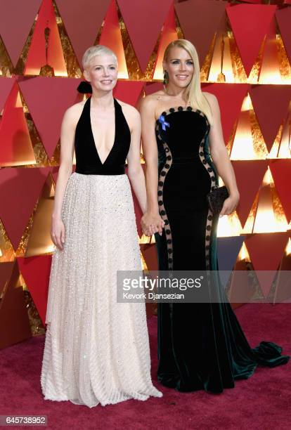 Michelle Williams and Busy Philipps attend the 89th Annual Academy Awards at Hollywood Highland Center on February 26 2017 in Hollywood California
