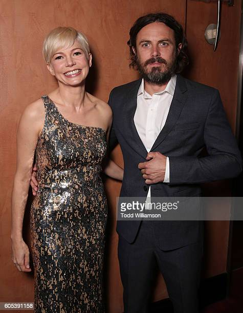 Michelle Williams and Casey Affleck attend Amazon Studios' 'Manchester By The Sea' Toronto International Film Festival Premiere at Princess of Wales...