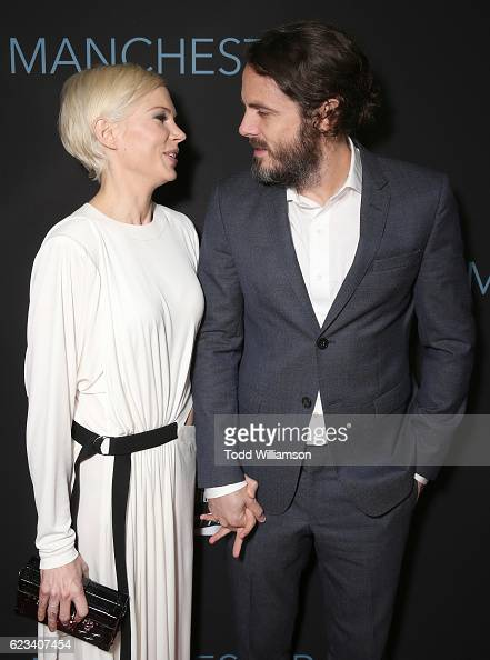 Michelle Williams and Casey Affleck attend the 'Manchester By The Sea' Los Angeles Premiere at AMPAS Samuel Goldwyn Theater on November 14 2016 in...