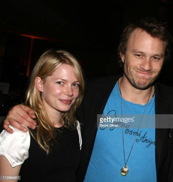 Michelle Williams and Heath Ledger during 'Awake and Sing' Opening Night After Party at Marriott Marquis Ballroom in New York City New York United...