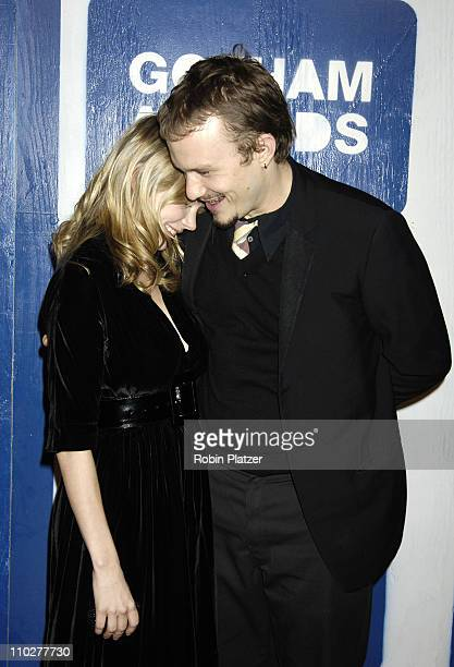 Michelle Williams and Heath Ledger during IFP's 15th Annual Gotham Awards at Pier Sixty at Chelsea Piers in New York City New York United States