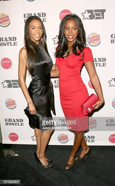 Michelle Williams and Kelly Rowland during Pre2006 BET Awards Party Featuring AllStar Concert with TI and Friends at House of Blues Sunset in West...