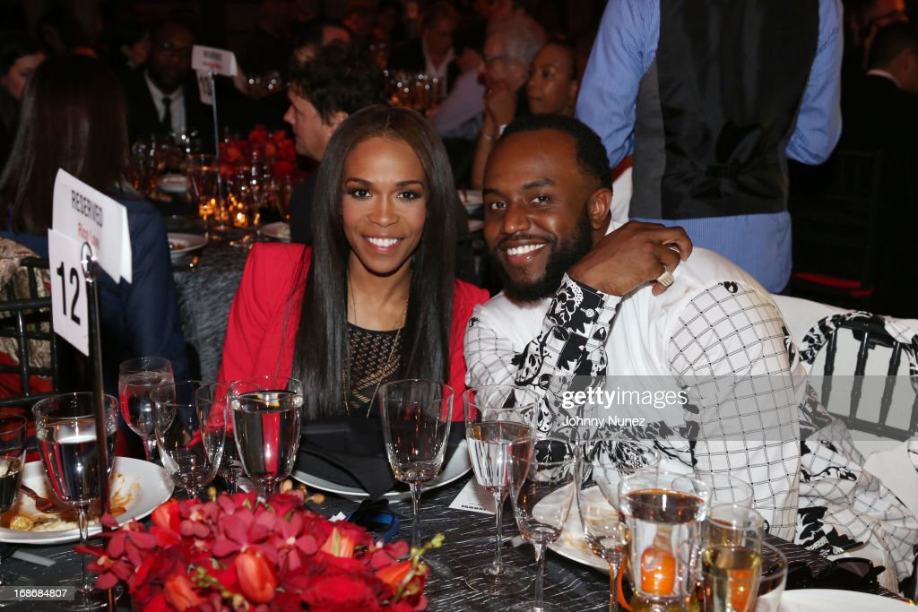 Michelle Williams and <a gi-track='captionPersonalityLinkClicked' href=/galleries/search?phrase=Rico+Love&family=editorial&specificpeople=691968 ng-click='$event.stopPropagation()'>Rico Love</a> attend 2013 SESAC Pop Music Awards at New York Public Library on May 13, 2013 in New York City.