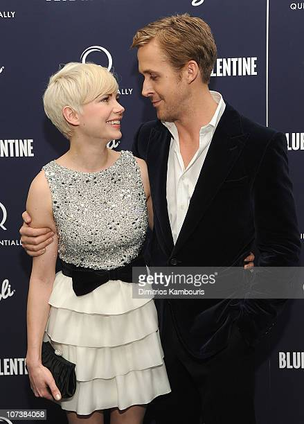 Michelle Williams and Ryan Gosling attend the premiere of 'Blue Valentine' at The Museum of Modern Art on December 7 2010 in New York City