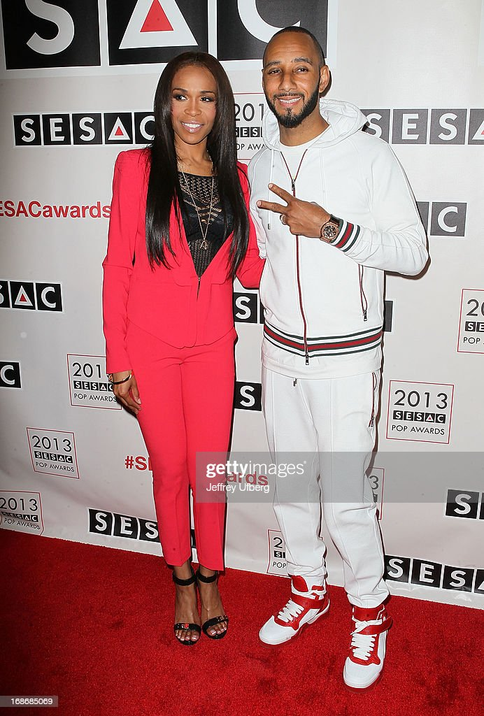 Michelle Williams and Swizz Beatz attend 2013 SESAC Pop Music Awards at New York Public Library on May 13, 2013 in New York City.