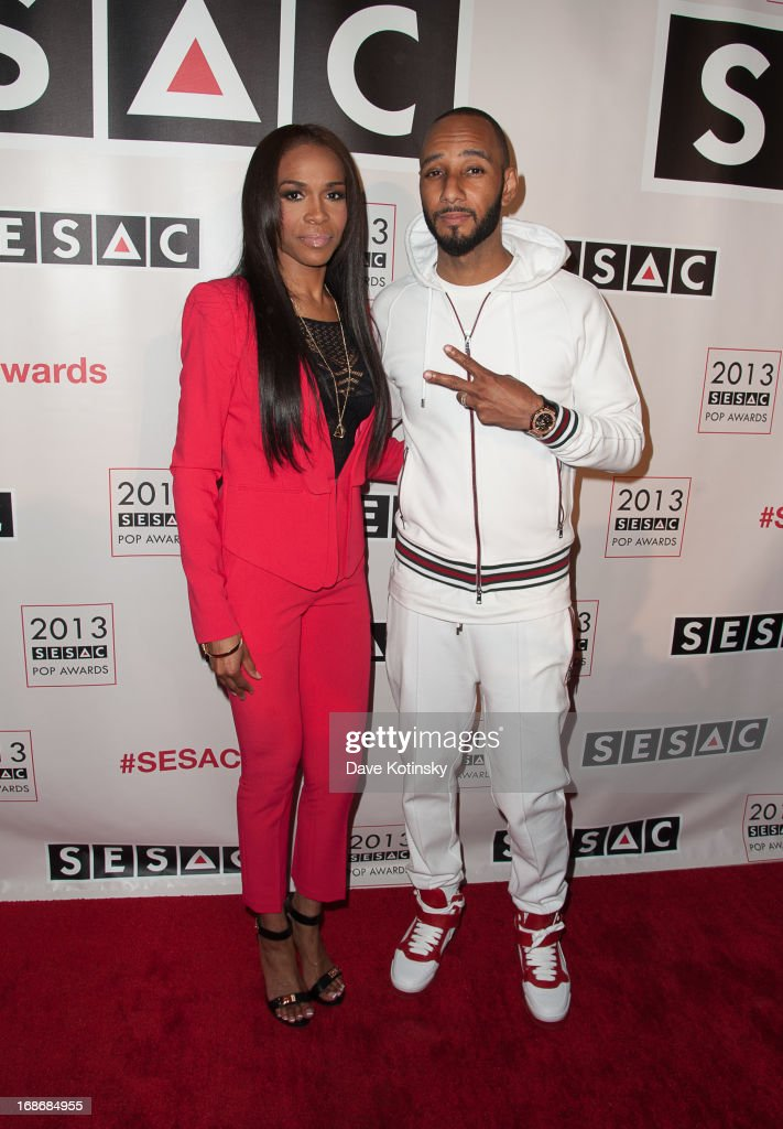 Michelle Williams and <a gi-track='captionPersonalityLinkClicked' href=/galleries/search?phrase=Swizz+Beatz&family=editorial&specificpeople=567154 ng-click='$event.stopPropagation()'>Swizz Beatz</a> attends 2013 SESAC Pop Music Awards at New York Public Library on May 13, 2013 in New York City.