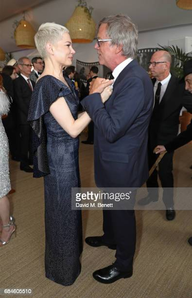 Michelle Williams and Todd Haynes attend the Amazon Studios official after party for 'Wonderstruck' at the iconic Nikki Beach popup venue during the...
