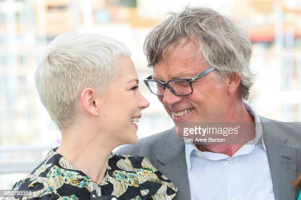 Michelle Williams and Todd Haynes attend the 'Wonderstruck' photocall during the 70th annual Cannes Film Festival at Palais des Festivals on May 18...