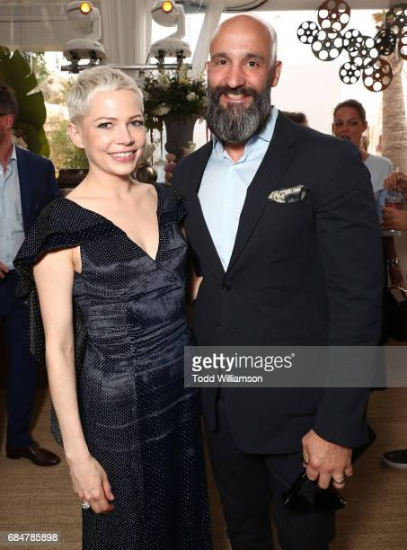 Michelle Williams and Worldwide Head of Motion Pictures Jason Ropell attend the 'Wonderstruck' Cannes After Party on May 18 2017 in Cannes
