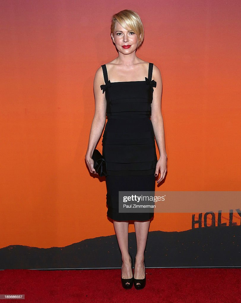 Michelle Williams arrives at the 2013 Whitney Gala and Studio Party at Skylight at Moynihan Station on October 23, 2013 in New York City.