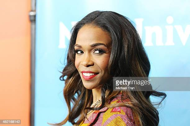 Michelle Williams arrives at the 2014 Television Critics Association Summer Press Tour NBCUniversal Day 2 held at The Beverly Hilton Hotel on July 14...