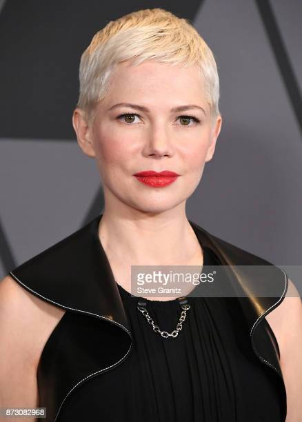Michelle Williams arrives at the Academy Of Motion Picture Arts And Sciences' 9th Annual Governors Awards at The Ray Dolby Ballroom at Hollywood...