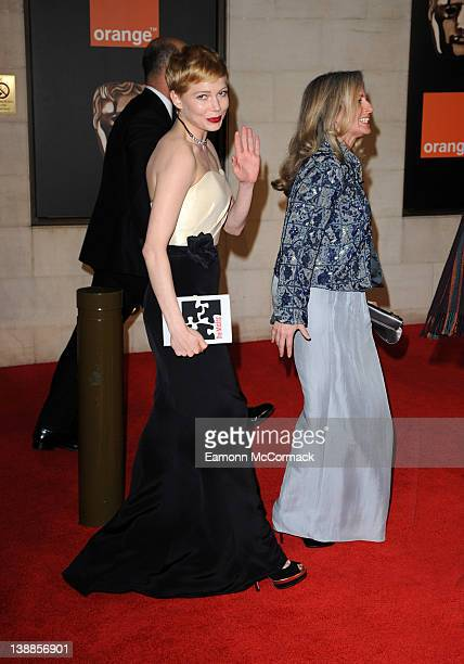 Michelle Williams arrives at the after party of Orange British Academy Film Awards 2012 at Grosvenor House on February 12 2012 in London England