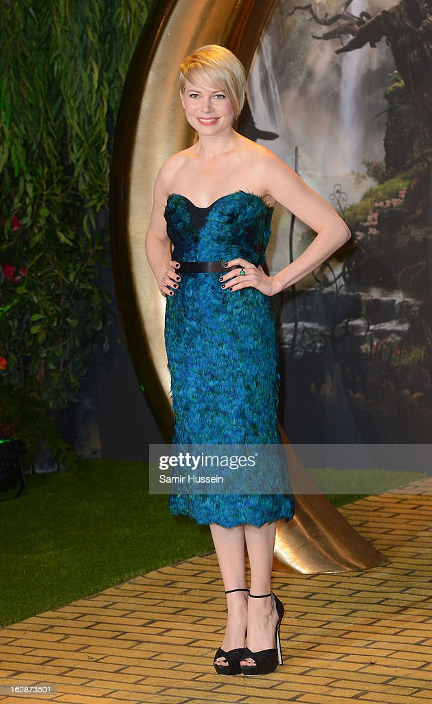 <a gi-track='captionPersonalityLinkClicked' href=/galleries/search?phrase=Michelle+Williams&family=editorial&specificpeople=201698 ng-click='$event.stopPropagation()'>Michelle Williams</a> arrives for the 'Oz: The Great And Powerful' European premiere at the Empire Leicester Square on February 28, 2013 in London, England.