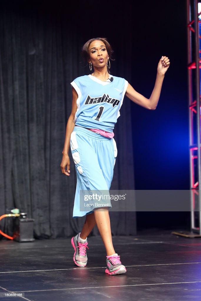Michelle Williams attends the Ball Up 'Search For the Next' Tour Celebrity Game at Megafest on August 31, 2013 in Dallas, United States.