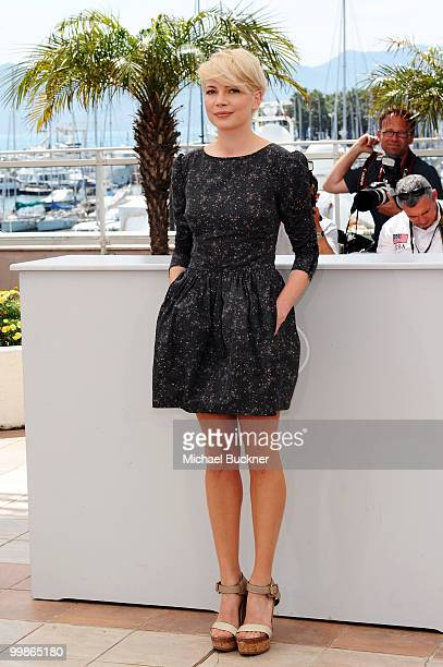 Michelle Williams attends the 'Blue Valentine' Photocall at the Palais des Festivals during the 63rd Annual Cannes Film Festival on May 18 2010 in...