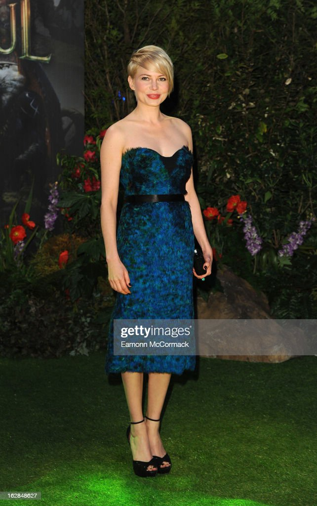 <a gi-track='captionPersonalityLinkClicked' href=/galleries/search?phrase=Michelle+Williams+-+Actress&family=editorial&specificpeople=201698 ng-click='$event.stopPropagation()'>Michelle Williams</a> attends the European Premiere of 'Oz: The Great and Powerful' at Empire Leicester Square on February 28, 2013 in London, England.