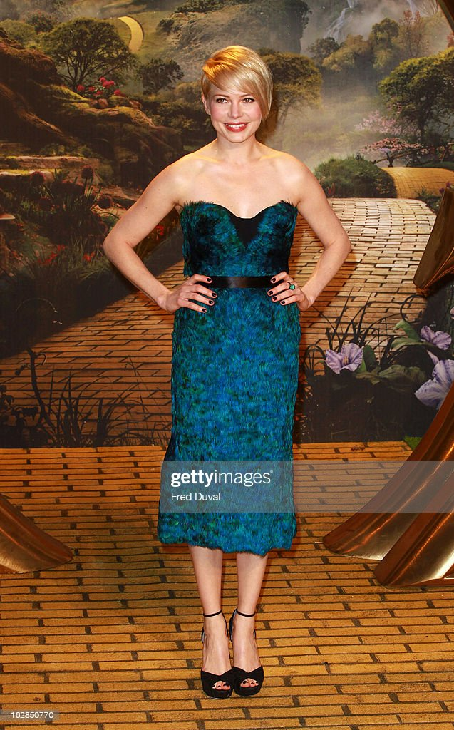 Michelle Williams attends the European Premiere of 'Oz: The Great And Powerful' at The Empire Cinema on February 28, 2013 in London, England.