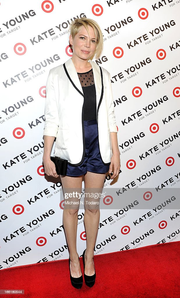 Michelle Williams attends the Kate Young For Target Launch at The Old School NYC on April 9, 2013 in New York City.