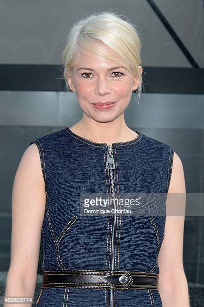 Michelle Williams attends the Louis Vuitton show as part of the Paris Fashion Week Womenswear Fall/Winter 2015/2016 on March 11 2015 in Paris France