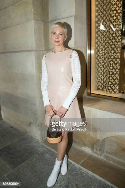 Michelle Williams attends the Opening Of The Louis Vuitton Boutique as part of the Paris Fashion Week Womenswear Spring/Summer 2018 on October 2 2017...