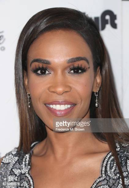 Michelle Williams attends the Wearable Art Gala at California African American Museum on April 29 2017 in Los Angeles California