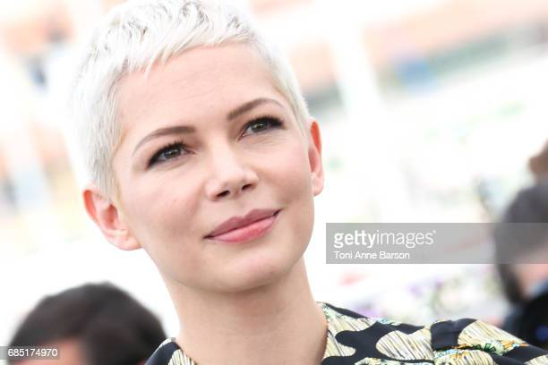 Michelle Williams attends the 'Wonderstruck' photocall during the 70th annual Cannes Film Festival at Palais des Festivals on May 18 2017 in Cannes...