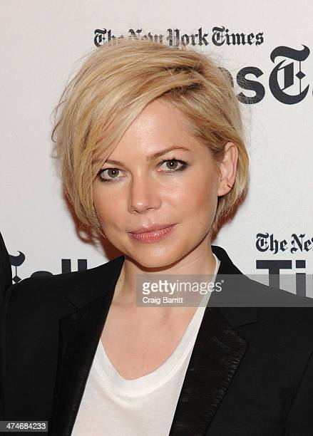 Michelle Williams attends TimesTalk Presents An Evening With 'Cabaret' at The Times Center on February 24 2014 in New York City