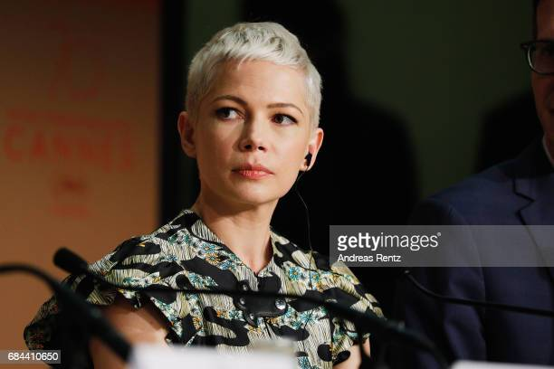 Michelle Williams attends 'Wonderstruck' Press Conference during the 70th annual Cannes Film Festival at Palais des Festivals on May 18 2017 in...