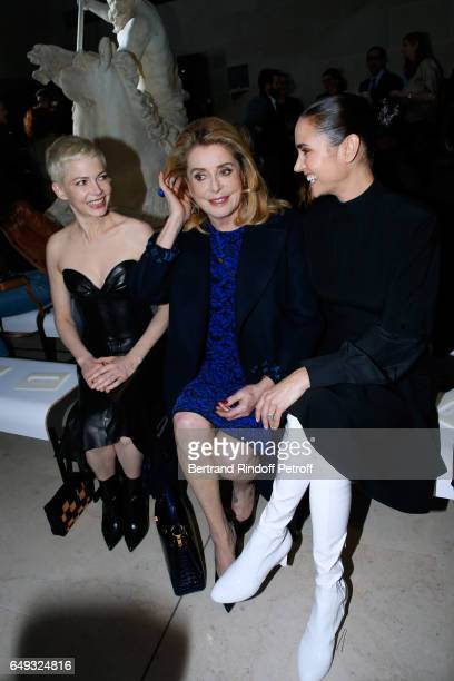 Michelle Williams Catherine Deneuve and Jennifer Connelly attend the Louis Vuitton show as part of the Paris Fashion Week Womenswear Fall/Winter...