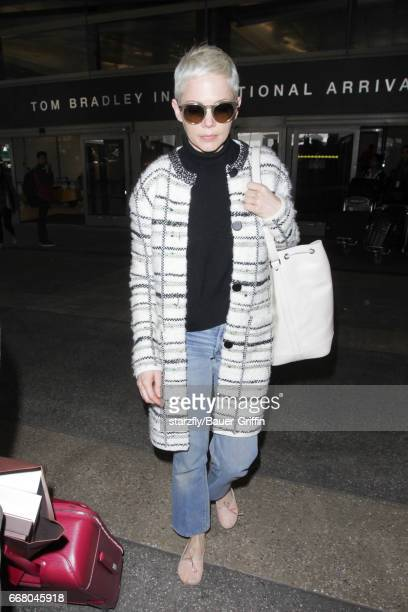 Michelle Williams is seen at LAX on April 12 2017 in Los Angeles California
