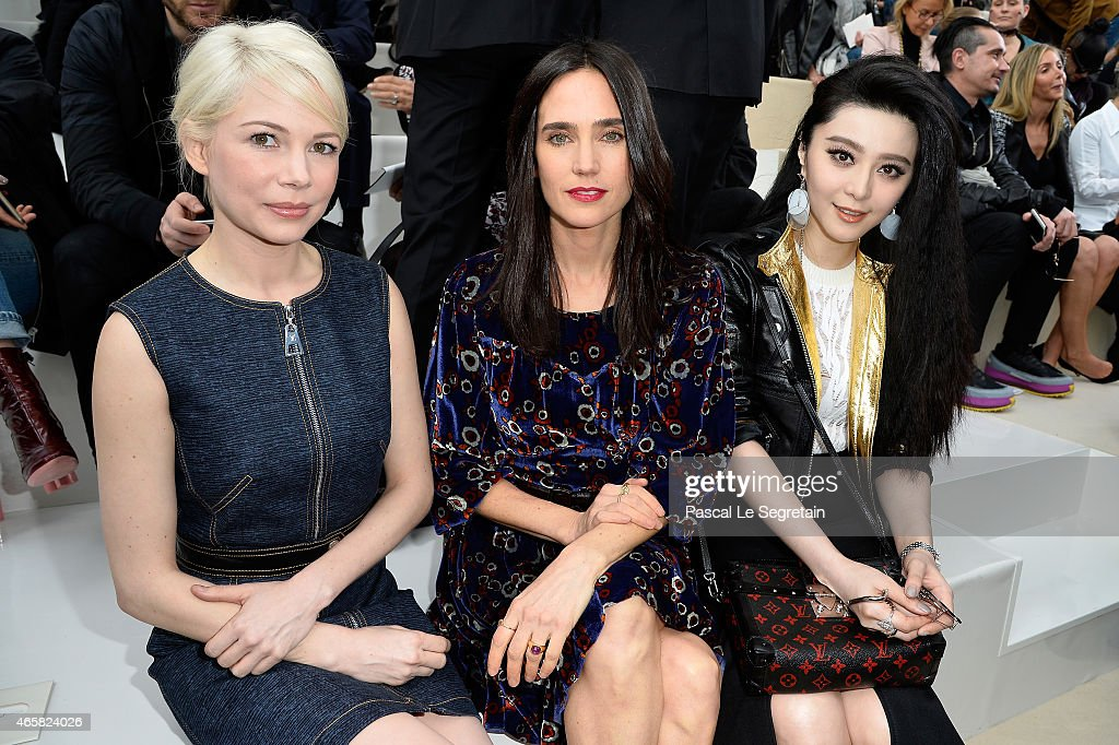 Michelle Williams Jennifer Connelly and Fan Bing Bing attend the Louis Vuitton show as part of the Paris Fashion Week Womenswear Fall/Winter...