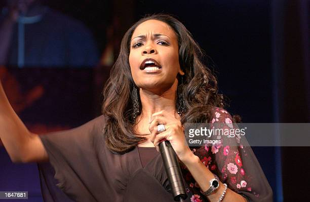 Michelle Williams of Destiny's Child performs at Inspirational Soulfest 2002 November 16 2002 in Atlanta Georgia