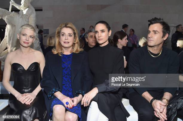 Michelle WilliamsCatherine DeneuveJennifer Connelly and Justin Theroux attend the Louis Vuitton show as part of the Paris Fashion Week Womenswear...