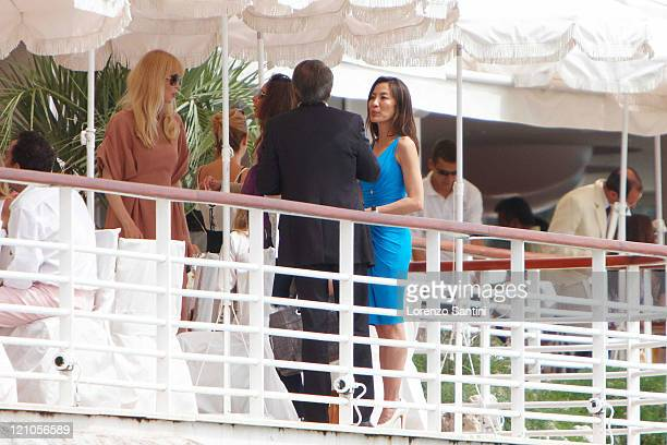 Michelle Yeoh and Claudia Schiffer stay at the Hotel du CapEden Roc of Cap d'Antibes on May 22 2009 in Cannes France