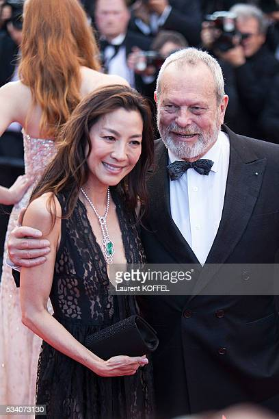 Michelle Yeoh and director Terry Gilliam attends the screening of the film 'Julieta' at the annual 69th Cannes Film Festival at the Palais des...