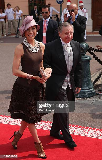 Michelle Yeoh and Jean Todt attend the religious ceremony of the Royal Wedding of Prince Albert II of Monaco to Princess Charlene of Monaco in the...