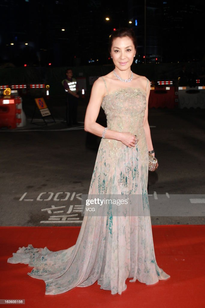 <a gi-track='captionPersonalityLinkClicked' href=/galleries/search?phrase=Michelle+Yeoh&family=editorial&specificpeople=223894 ng-click='$event.stopPropagation()'>Michelle Yeoh</a> arrives at the red carpet of the 7th Asian Film Awards on March 18, 2013 in Hong Kong, China.