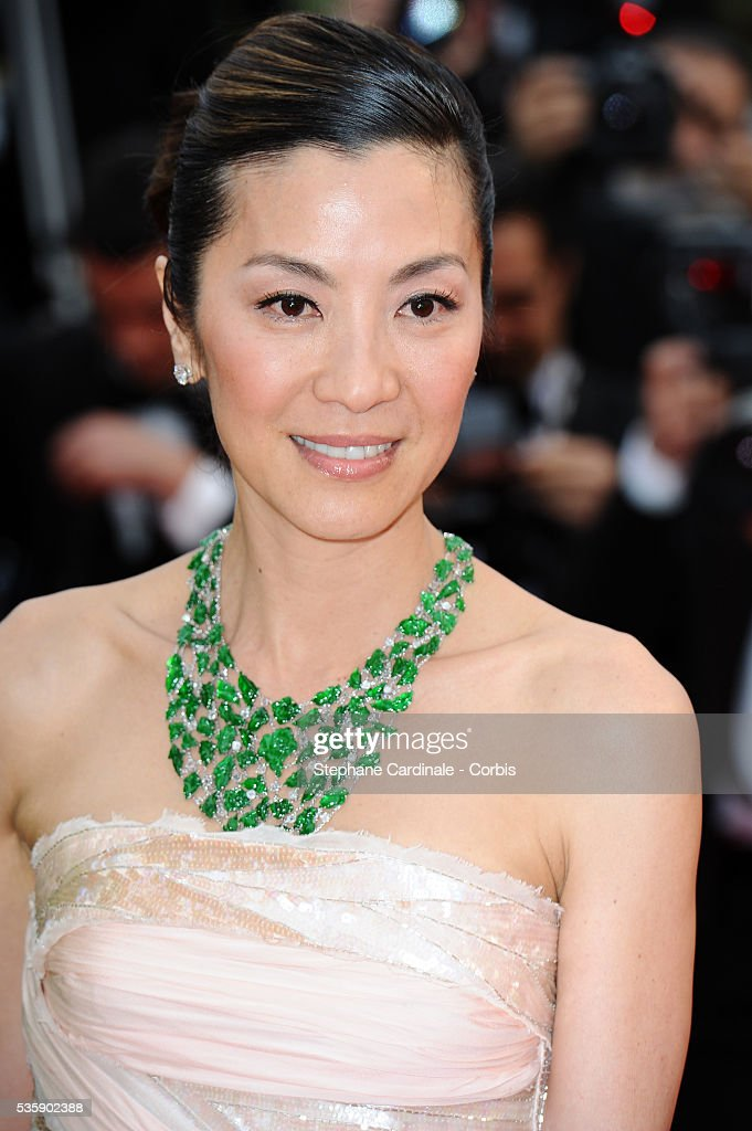 Michelle Yeoh at the Premiere for 'You will meet a tall dark stranger' during the 63rd Cannes International Film Festival.
