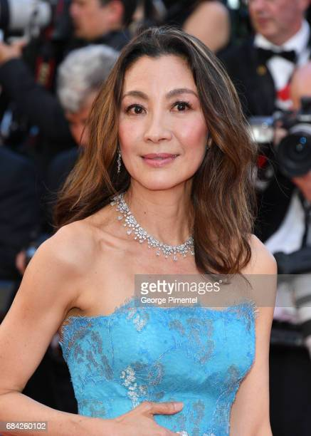 Michelle Yeoh attends the 'Ismael's Ghosts ' screening and Opening Gala during the 70th annual Cannes Film Festival at Palais des Festivals on May 17...